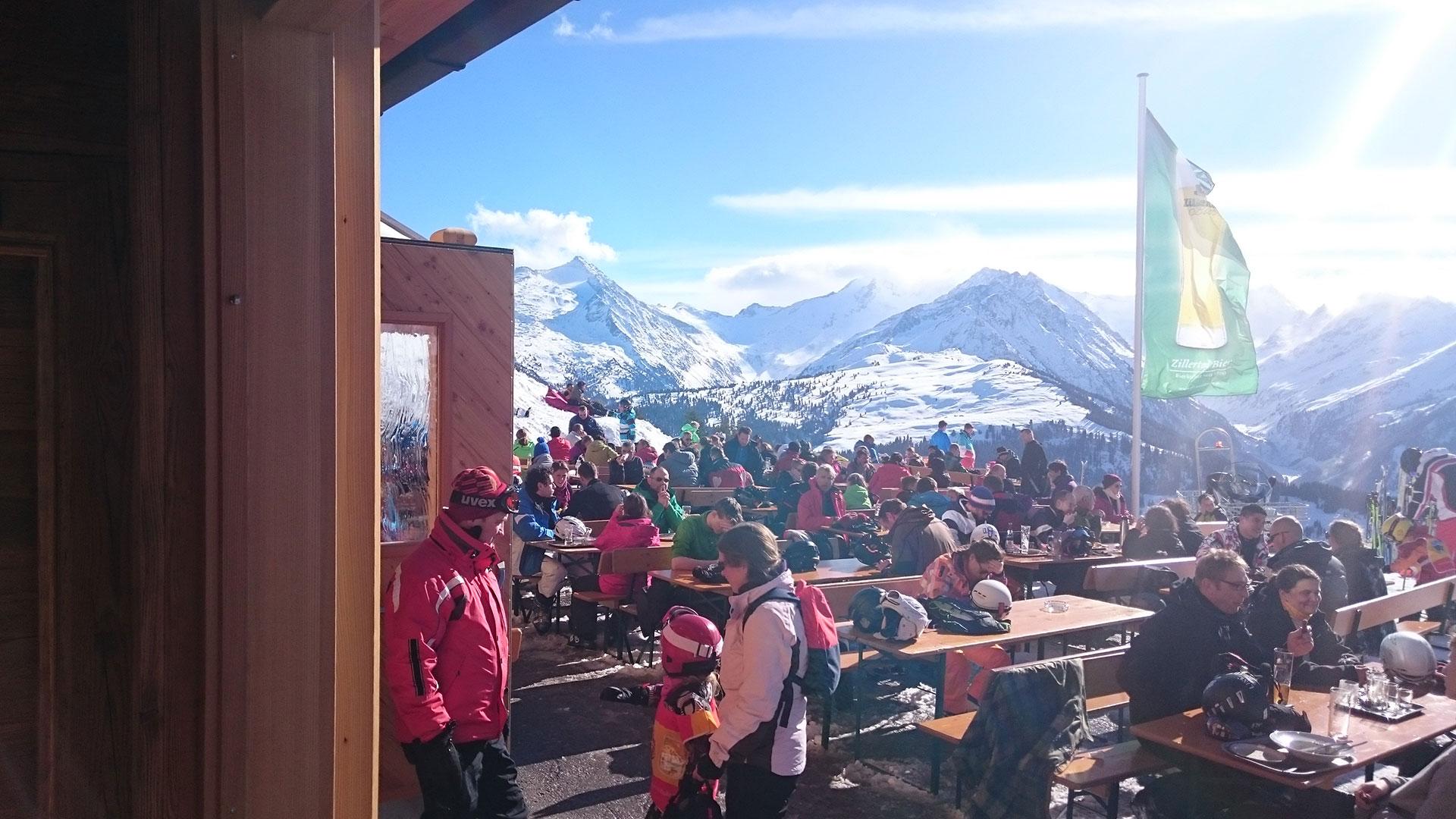 Terrasse Skihütte Fussalm