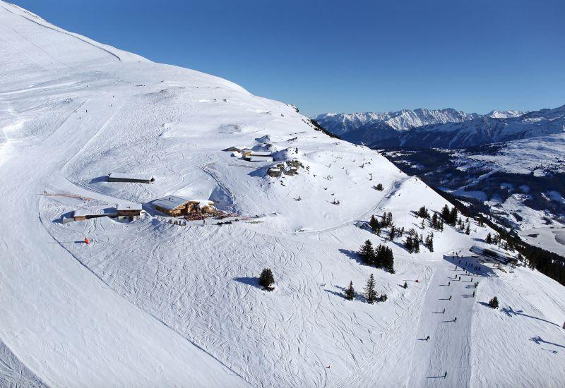 Luftaufnahme Skihütte Fussalm